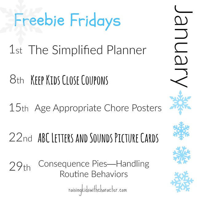 January Freebie Fridays