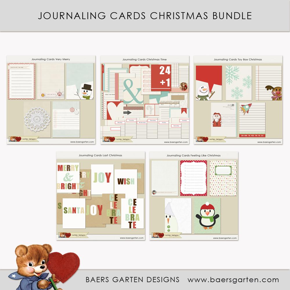 Journaling Cards Christmas Bundle