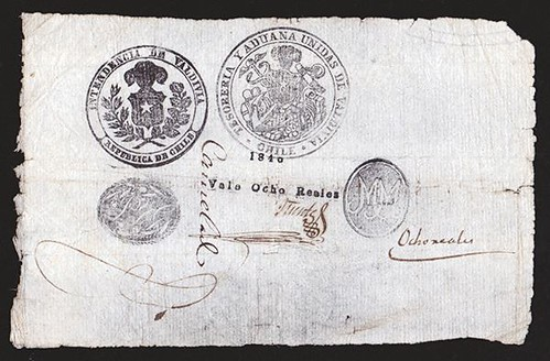 Lot 50 Chile Province of Valdivia Treasury and Customs note