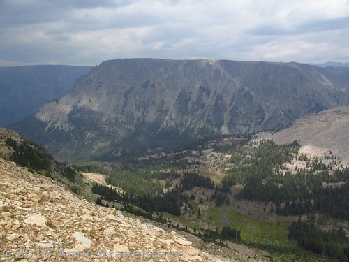 Some of the views from the top of White Rock, Wind River Range, Wyoming