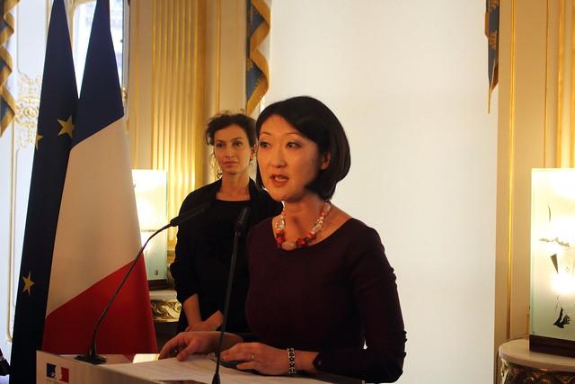 Audrey Azoulay et Fleur Pellerin - Passation de pouvoir