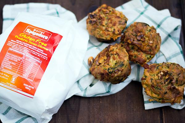 Muffins vegetariani senza glutine