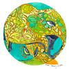 Maui elephant dala art chriscarterart ink watercolor 012216 1080