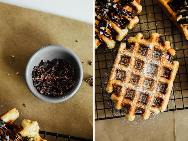 Pearl sugar waffles (two ways)
