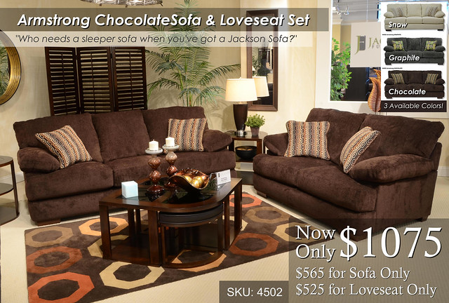Armstrong Chocolate Living Set