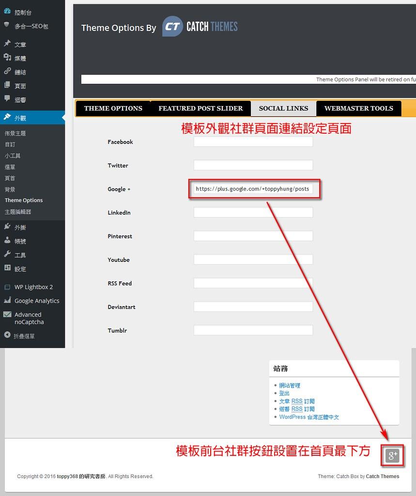 樣板社群頁面設定功能