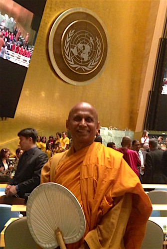 Ven. Bhante Kondanna at the United Nations on Vesak Day. Image courtesy of the author