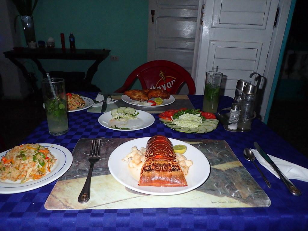Lobster dinner  Cuba