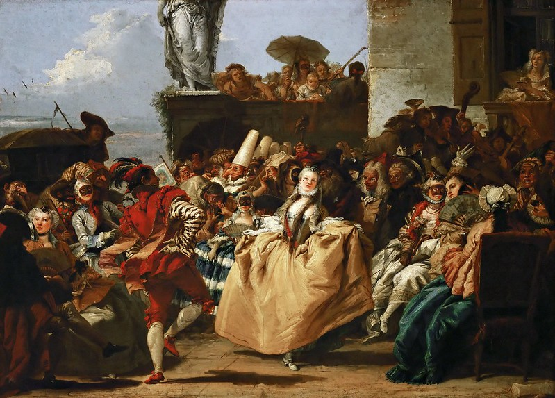 Giovanni Domenico Tiepolo - Carnival Scene or The Minuet (1754-55)