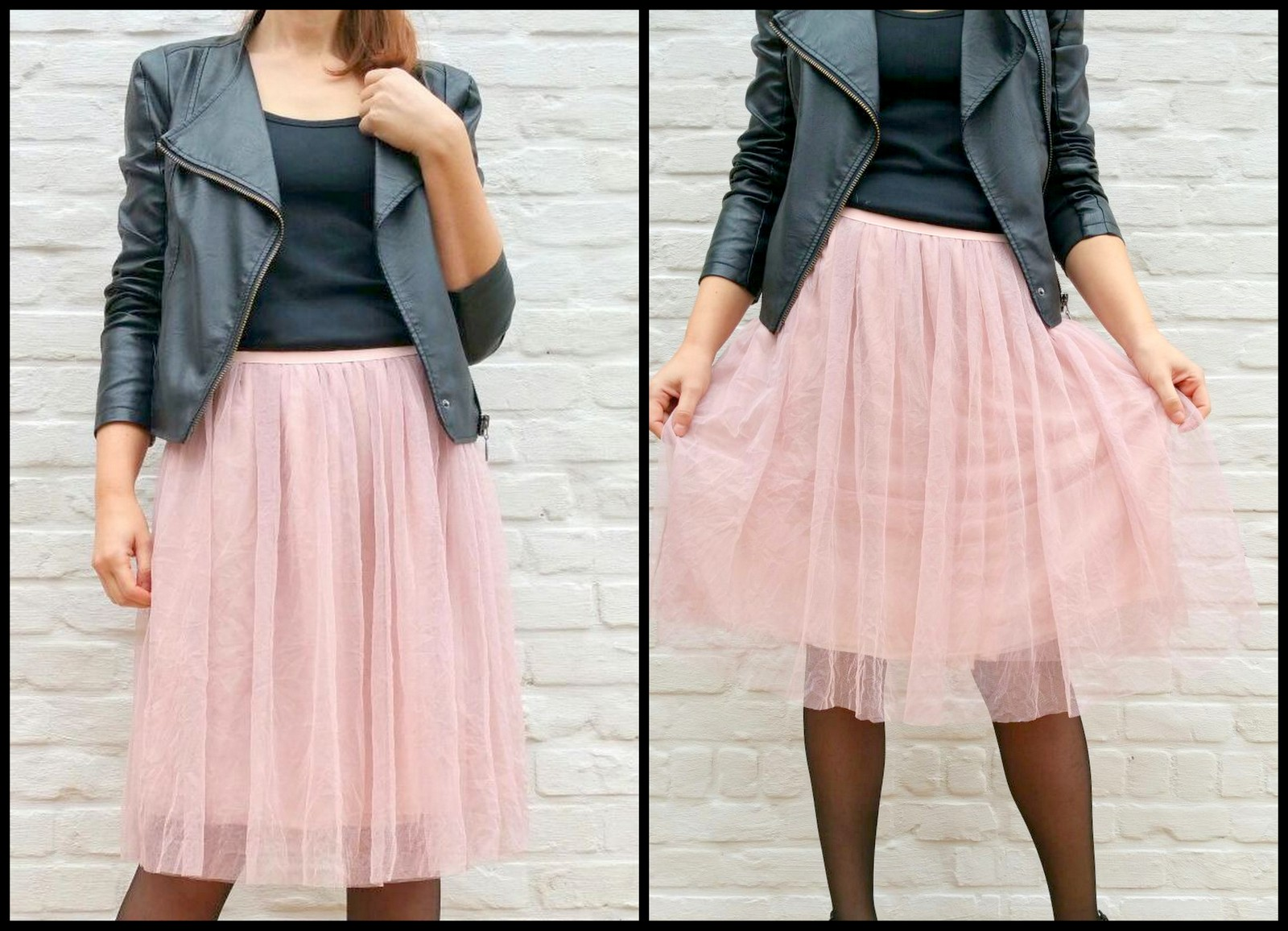 tule/chiffon skirt (collage)