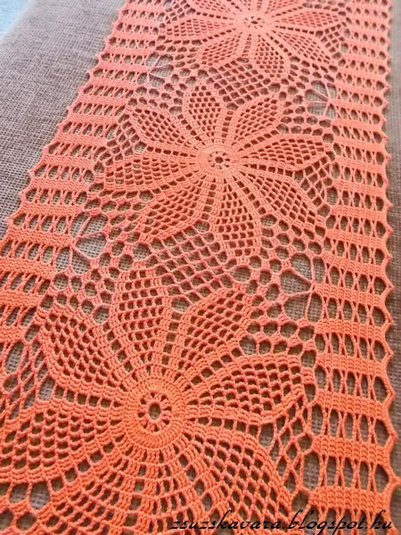 spring, colorful, doily, table runner,