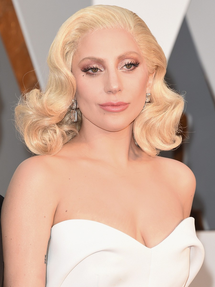 Oscars 2016 Lady Gaga Hair and Makeup