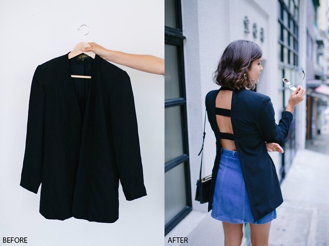Before and after: Open Back Blazer