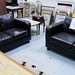 3+2 leatherette sofa set