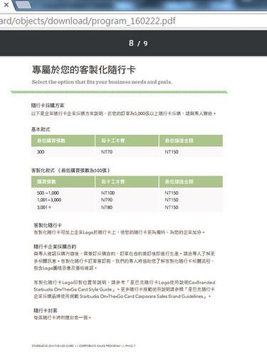 星巴克隨行卡企業採購網頁說明2016326025415