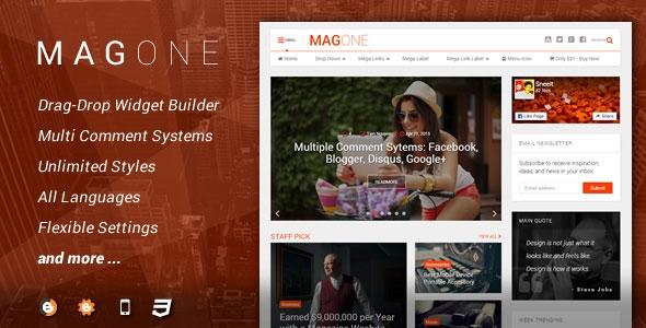 MagOne v5.5.0 – Magazine Blogger Template