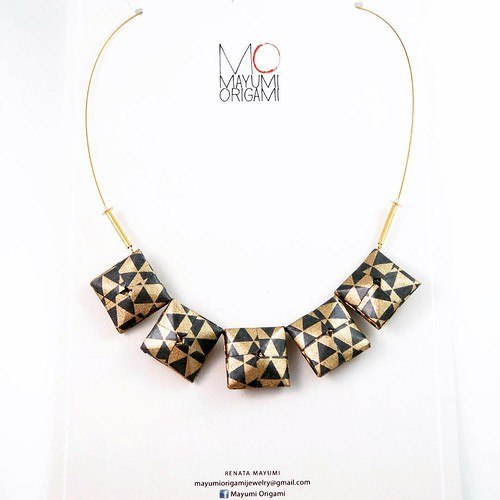 Mayumi Origami Jewelry - Square Bead Necklaces