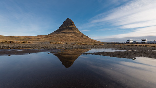 travel summer sky mountain west reflection nature water beautiful rock sunrise landscape volcano is iceland europe view natural outdoor landmark peninsula volcanic kirkjufell icelandic snaefellsnes