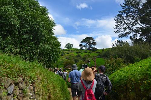 Tourists in Gandalf's Cut.