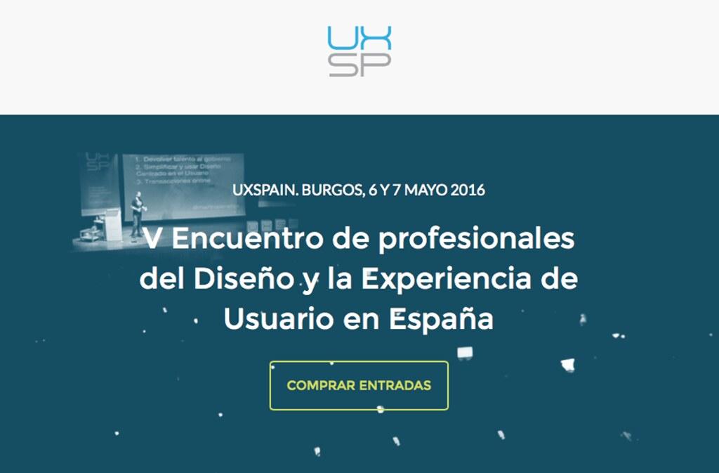 Captura de la web de UX Spain 2016