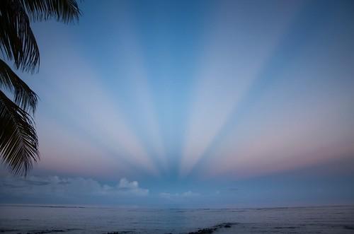 dawn rays mauritius opticalillusion crepuscular anticrepuscular antisolarpoint