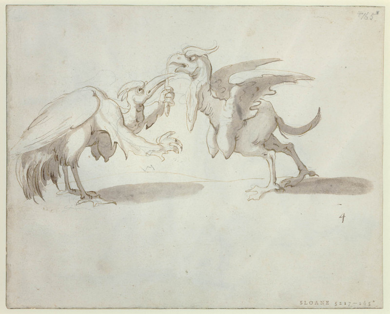 Arent van Bolten - Monster 165, from collection of 425 drawings, 1588-1633