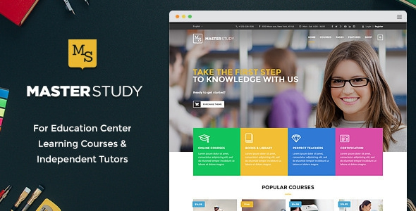 Masterstudy v2.0.2 – Education WordPress Theme for Learning, Training and Education Center