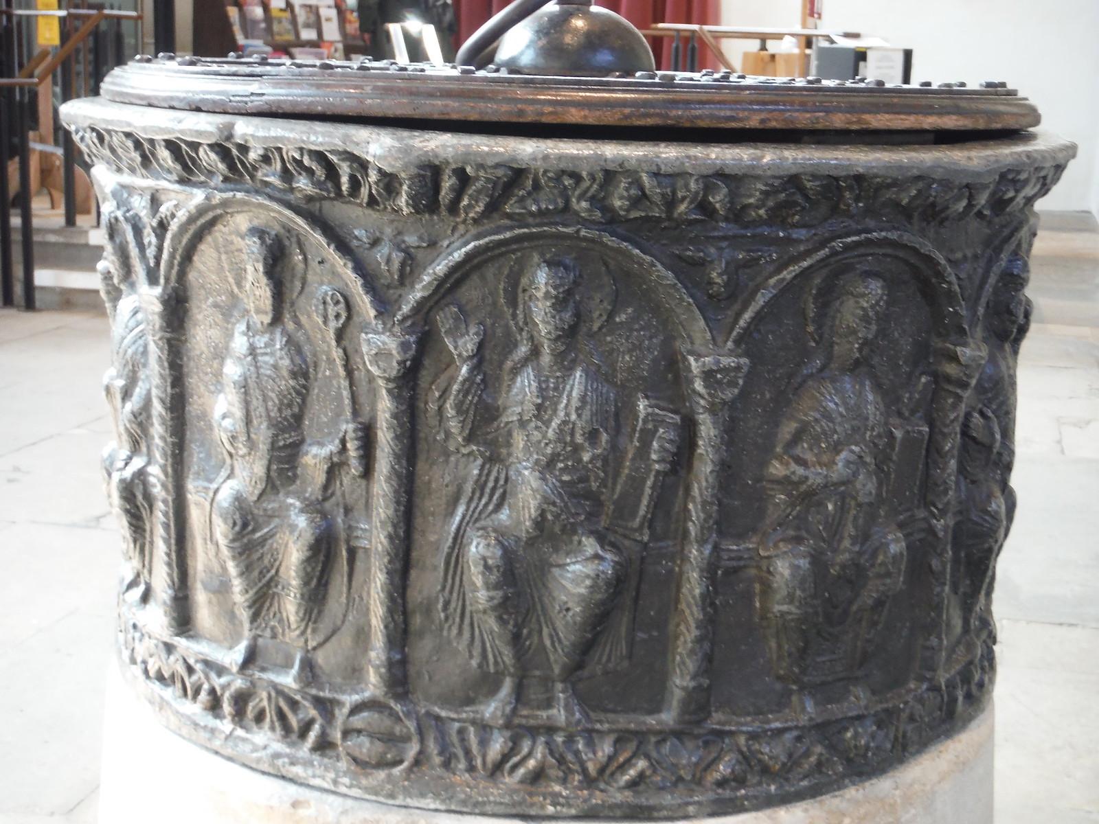 11 Apostles on Font (ca. 1180), Dorchester Abbey SWC Walk 44 - Didcot Circular