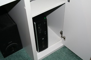 PC in a cupboard