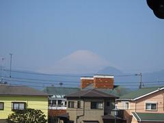 下曽我駅ホームから見える富士山