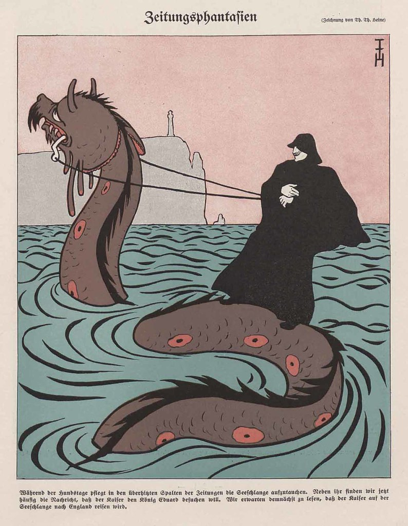 Thomas Theodor Heine - Newspaper Fantasies, 1907