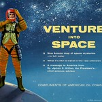 Thu, 2016-07-28 10:43 - 'Venture into Space. New Amoco map of space mysteries--in full color. What it's like to travel in the vast unknown. A message to America from Dr. James R. Killian, the President's chief science advisor. Compliments of American Oil Company.'  Cover illustration of the Amoco Map of Space Mysteries, published in 1958.