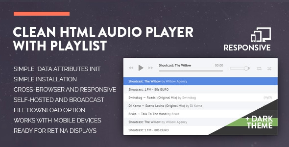 Codecanyon Clean HTML Audio Player with Playlist