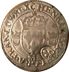 Counterstamped 1550 French Coin of Louis XIII obverse
