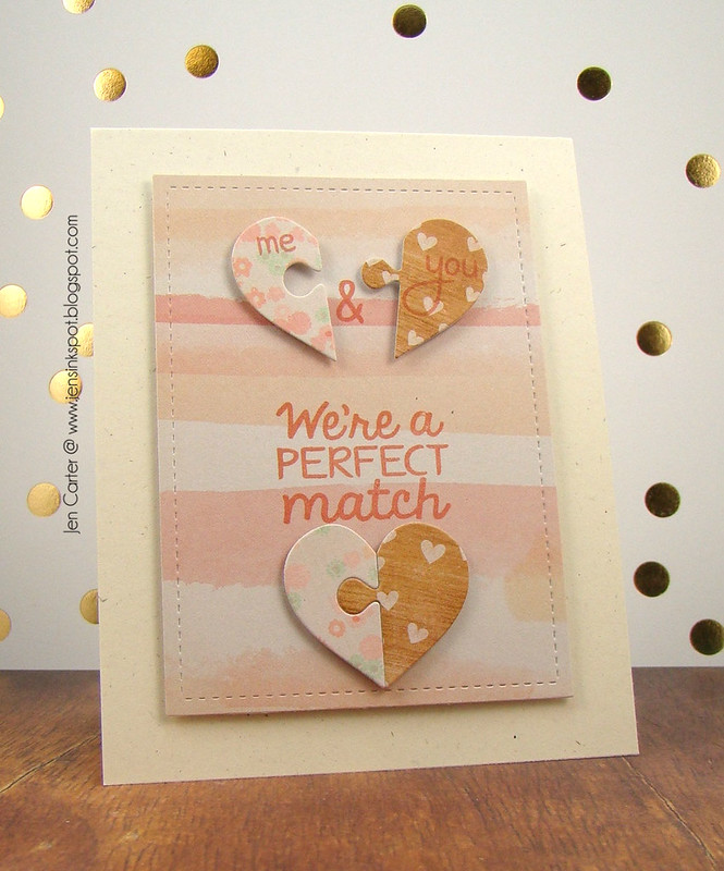 Jen Carter Perfect Match Puzzle Watercolor