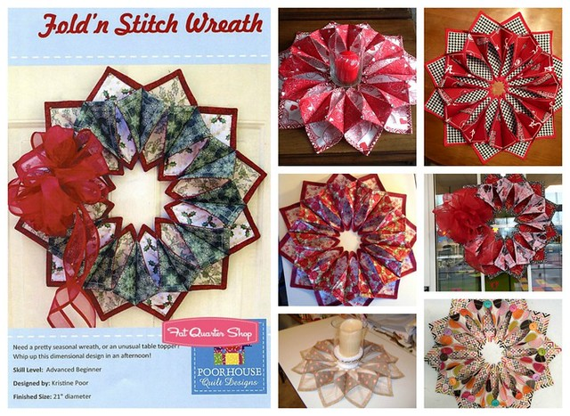 Pat Sloan What's Trending Wreaths Pat Sloan's Blog Classy Fold And Stitch Wreath Pattern