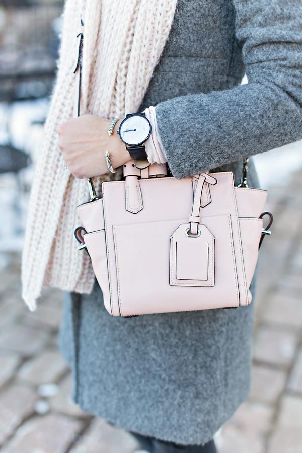 Gray + blush