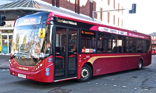 National Express West Midlands 2203 ADL Enviro200 MMC YX15 OYR