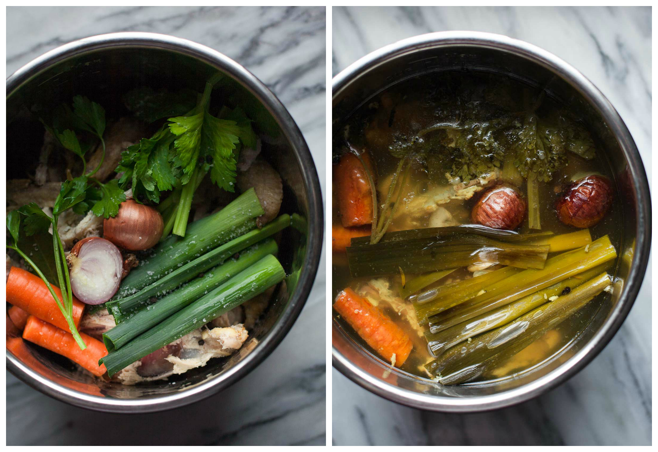 Instant Pot Chicken Stock (Paleo, Whole30) | acalculatedwhisk.com