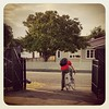 Man on a bike #carparkfees #ridetowork #firstday