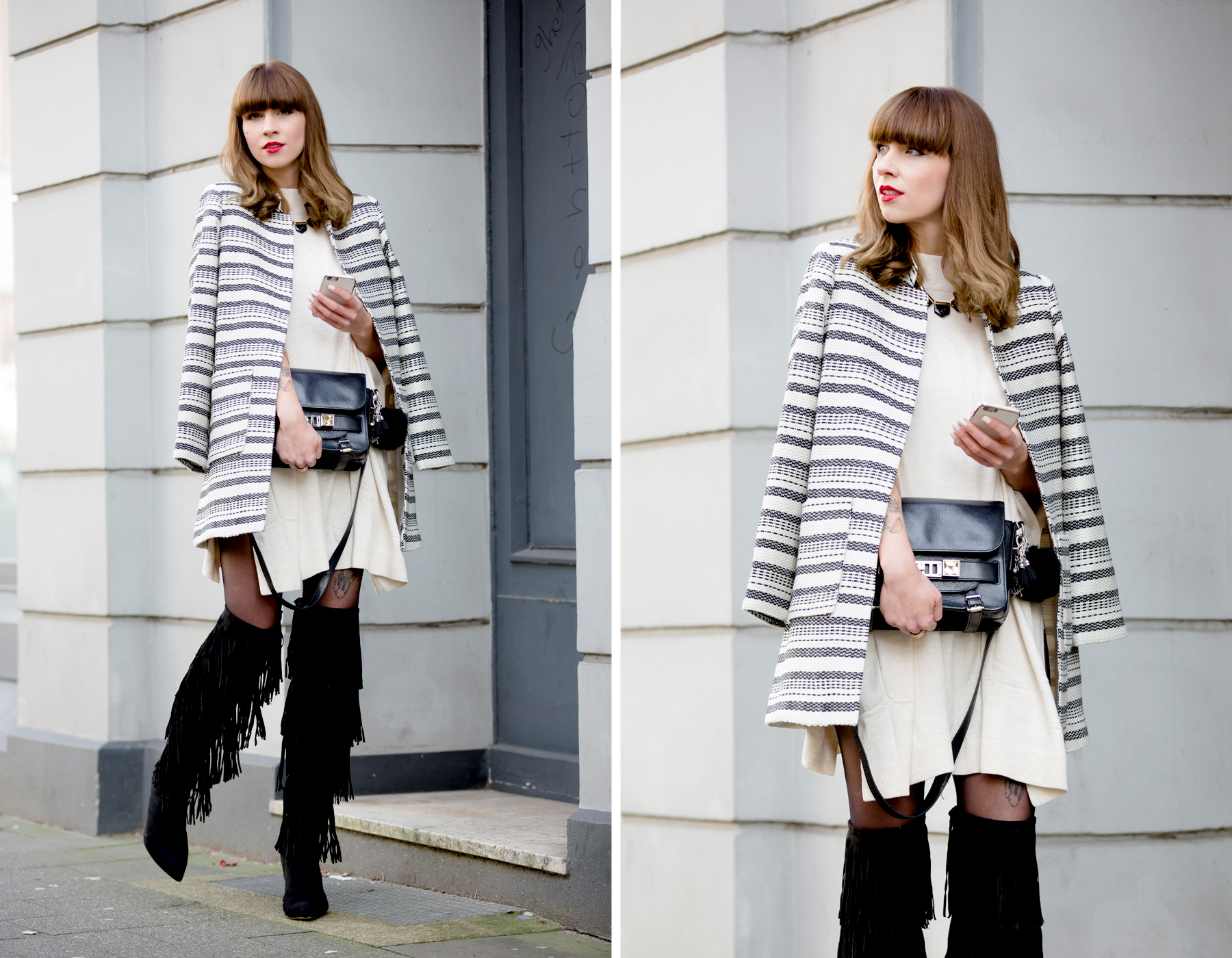 fringed overknee boots sacha lampshading stripes francaise cute parisienne red lips ysl proenza schouler luxury fashion blogger dusseldorf berlin germany 6