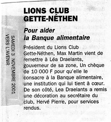 Banque alimentaire 2001