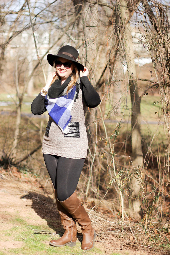 New Chic Tunic and Blanket Scarf-1