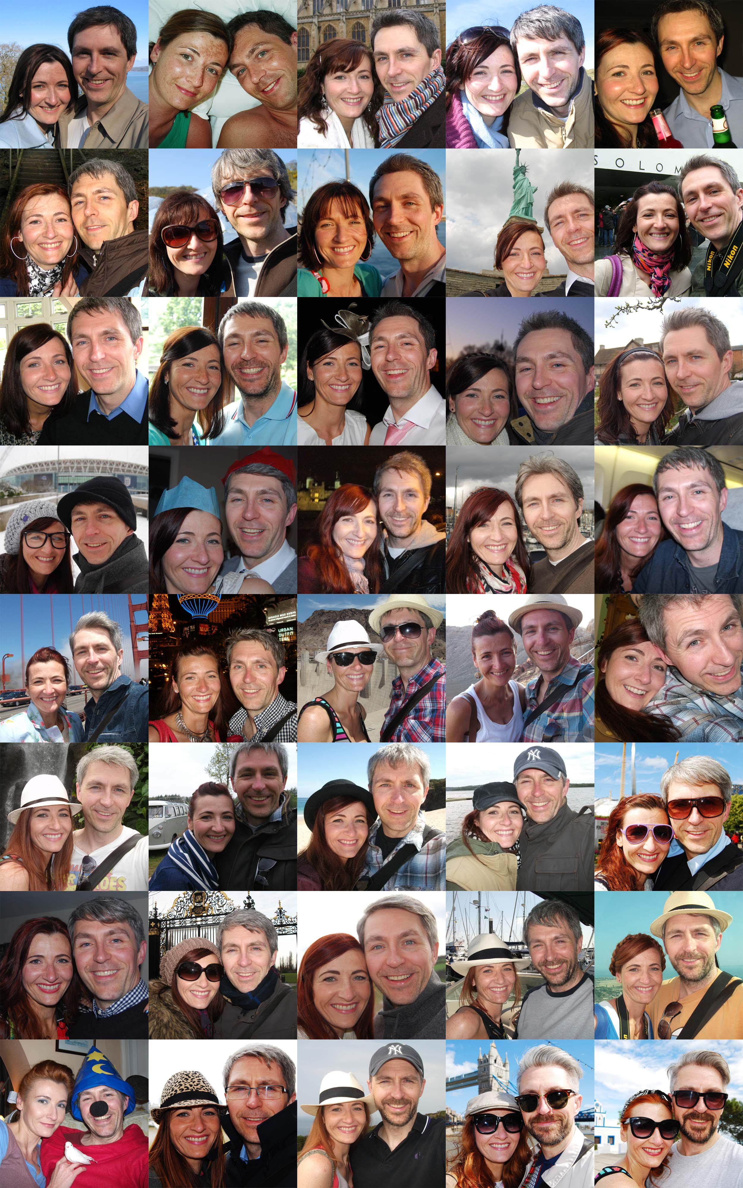 15 years of selfies