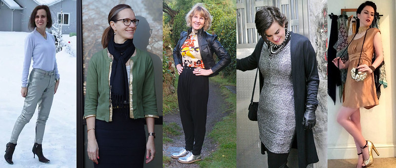 Fashion bloggers in metallics trend #iwillwearwhatilike