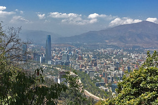 Santiago - Cerro San Cristobal skyline