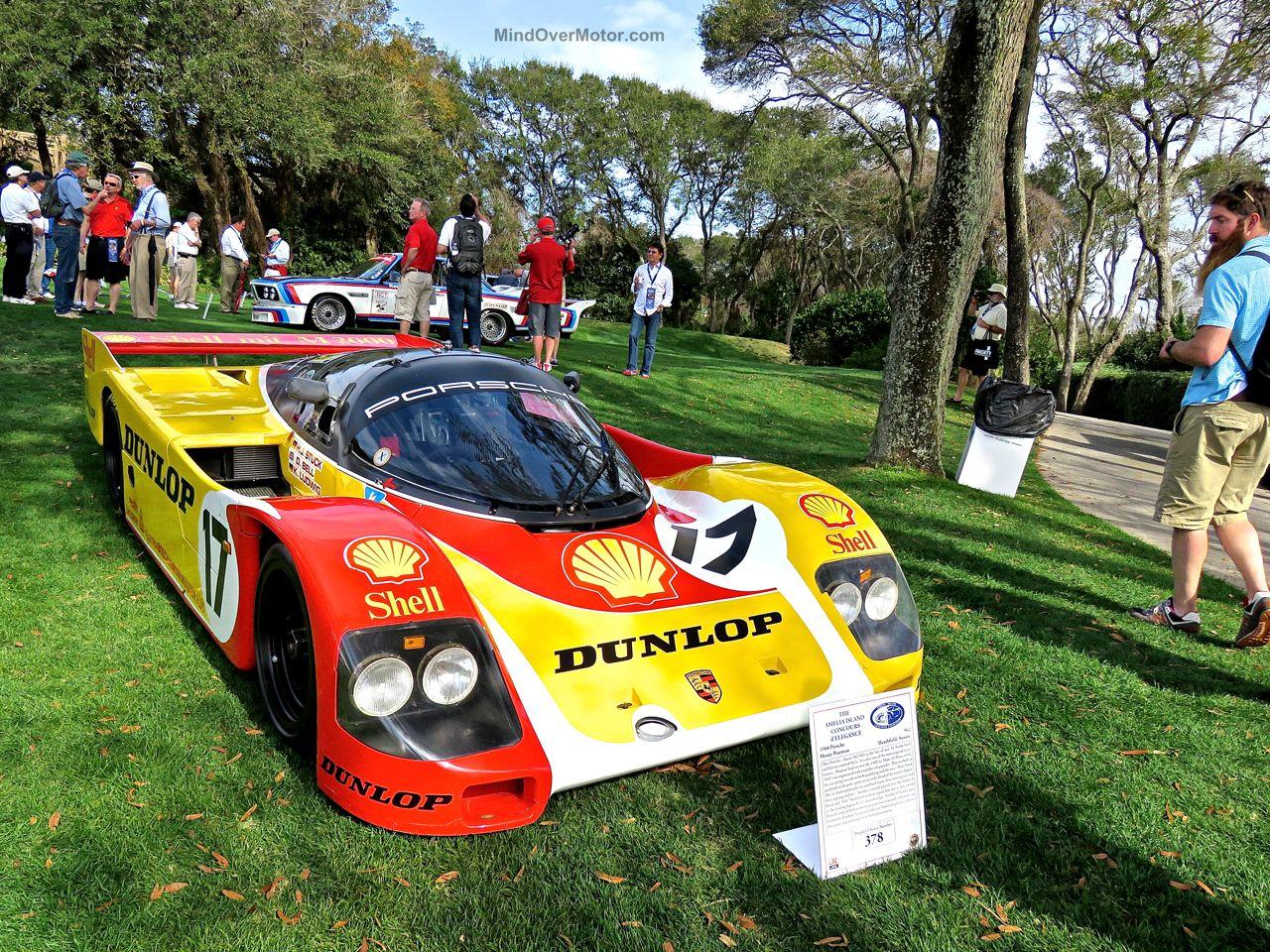 Amelia Island Concours Porsche 962 Orange