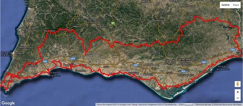 Ruta prevista MTB Algarve