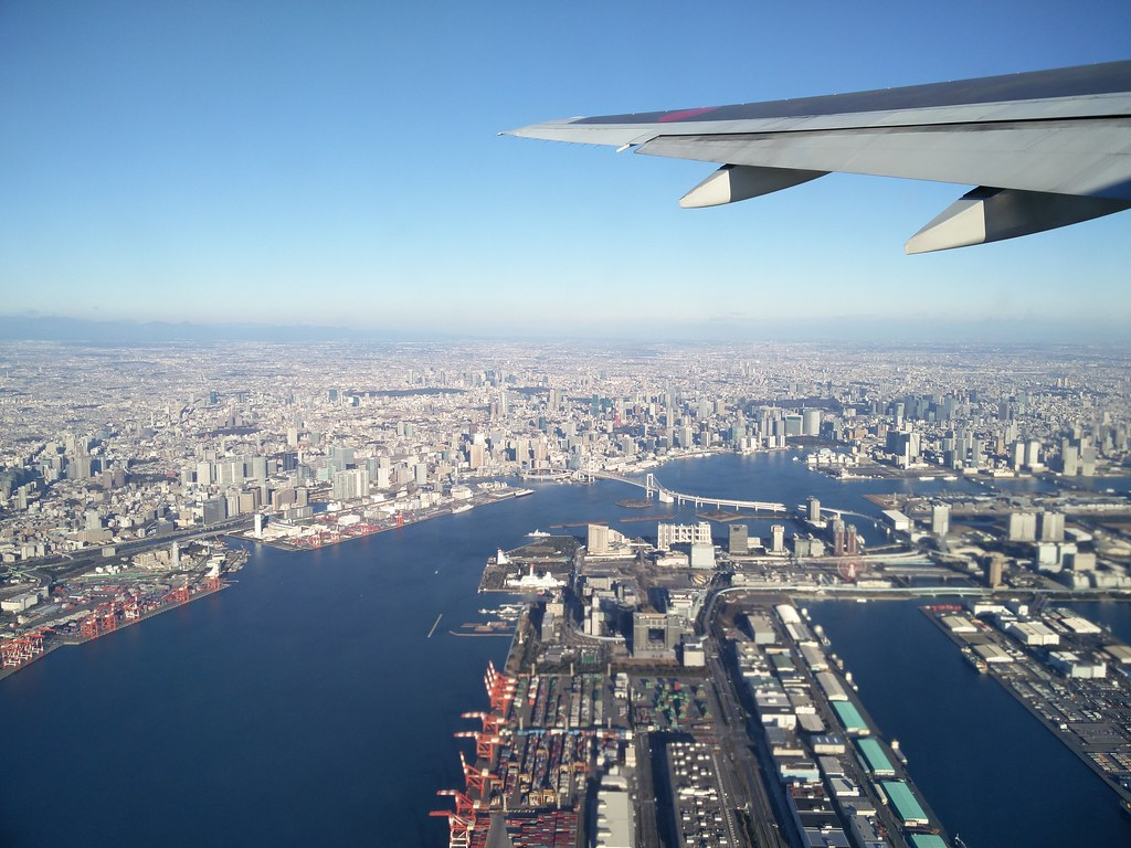 Take-off from Haneda