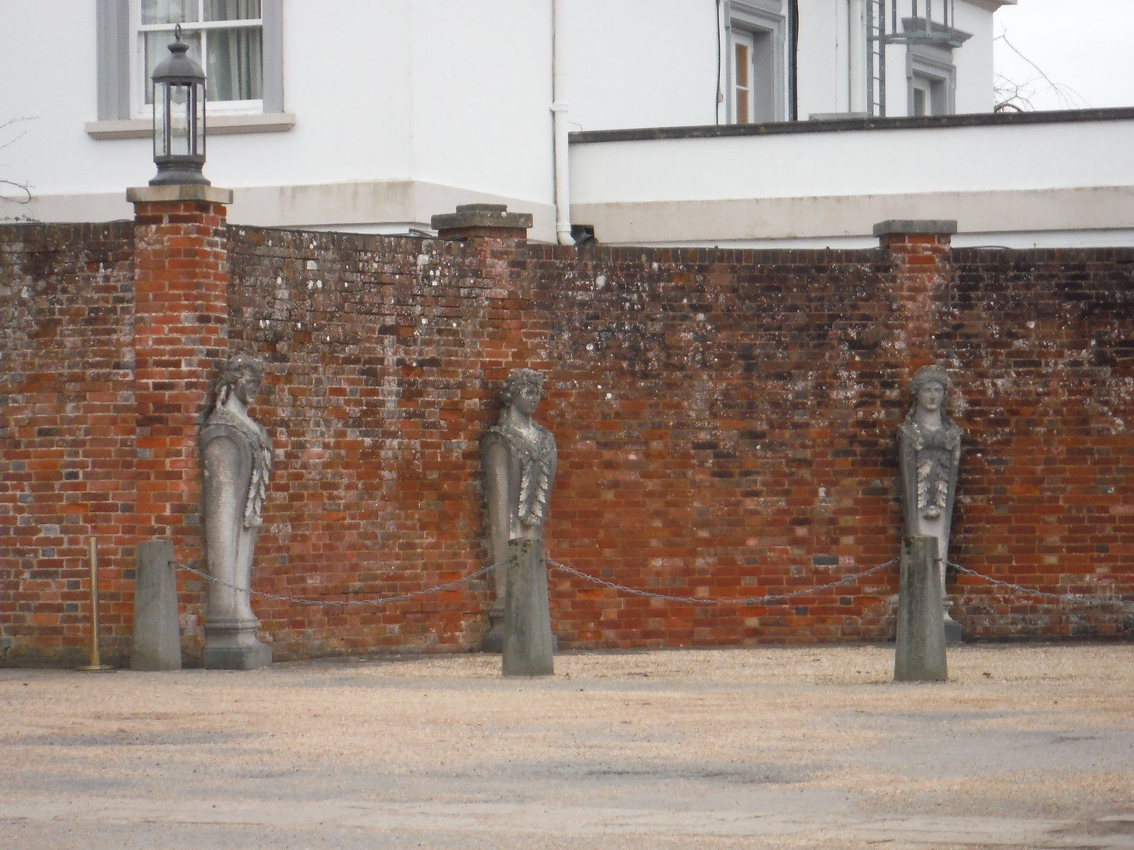 Sculptures in Car Park, Buxted Park Hotel SWC Walk 262 Uckfield to Buxted